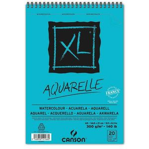 CANSON Skizzen und Studienblock XL Aquarelle DIN A5 20 Blatt