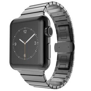 Apple Watch Series SE/6/5/4/3/2/1 Metall Armband 42mm Bracelet Schwarz