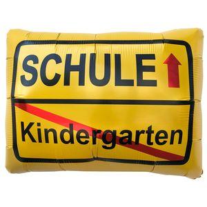 Oblique Unique Kindergarten Schule Ortsschild Folien Luftballon für Schuleinführung Schulanfang Einschulung Ballon