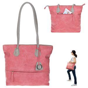 Handtasche für Damen groß Shopper A4 Alessandro Bologna Kunstledertasche 5400 Alt Rosa +e