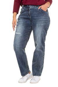 ULLA POPKEN Boyfriend-Jeans destroyed 5-Pocket weit und bequem bleached NEU, Hosengröße:42