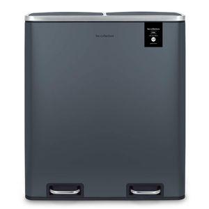 Hochleistungs-Küchenabfalltrenner 3 Behälter Abnehmbare Behälter Recycling-Abfalltrennung Silent Deckel, 54L