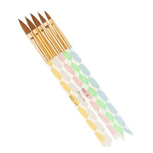 5 Stück in Nagelkunst Pinsel Set Nailart Brush UV Gel Acryl Nagellack Malerei Zeichnung Stifte, Maniküre Werkzeug