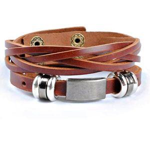 Lederarmband ECHT Leder Armband für Herren Damen Nr.01 Braun