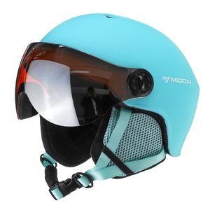 Skihelm Snowboardhelm Rollerhelm Sport Helm Winddicht mit Visier Goggles M Size 55-58 cm