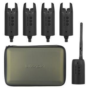 Bissanzeiger£¬Lixada Wireless Digital Fishing Alarm-Set Fishing Bite Sound Alert Kit Wechselbare LED-Alarmanzeige mit tragbarem Geh?use,Green,