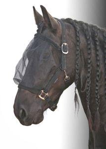 Harry`s Horse Fliegenmaske mit integriertem Halfter, schwarz, Größe:Warmblut
