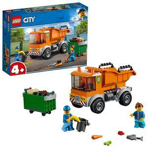 LEGO 60220 City Müllabfuhr, LKW-Spielzeug mit 2 Müllarbeiter-Minifiguren und Zubehör