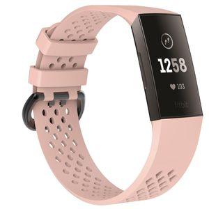 Fitbit Charge 3/4 Armband Elastomer Beigerosa (S)