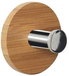 Spirella Punt, Innenraum, Handtuchhaken, Bambus, PVC, Holz, Klebestreifen, Rund