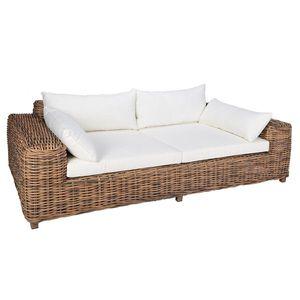 OUTLIV. Versailles Luxury 2-Sitzer-Sofa Geflecht Natur