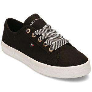 Tommy Hilfiger Damen Sneaker Sneaker Low Textil schwarz 39