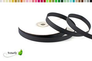 25m Rolle Ripsband 10mm , Farbauswahl:schwarz 030