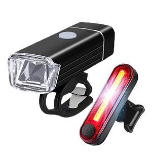 Fahrradlicht, USB Aufladbar Fahrradlicht Set, LED Fahrradbeleuchtung Klein Hell Fahrradlampe Vorne/Hinten für Kinder Erwachsene, stoß- und regenfest