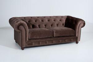 Max Winzer Orleans Sofa 2,5-Sitzer - Farbe: braun - Maße: 216 cm x 100 cm x 77 cm; 2911-3000-2044201-F07