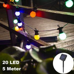 Glühbirne Birne Lampe20 LED / 5 MeterLED Solar Licht Lampe Balkonlichter Aussenlichterkette Lichtsensor Automatik Outdoor