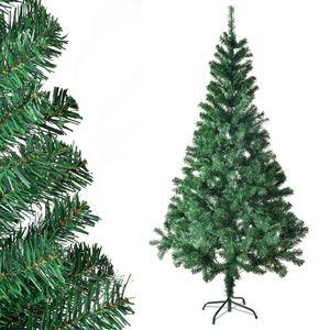 Juskys Weihnachtsbaum 210 cm künstlich mit Ständer – Tannenbaum naturgetreu - Deko Christbaum für Innen - Weihnachtsdeko grün