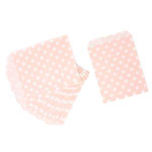 Oblique Unique 24 Geschenktüten Papiertüten Geschenktaschen Tüten gepunktet für Kinder Geburtstag Mitgebsel - rosa