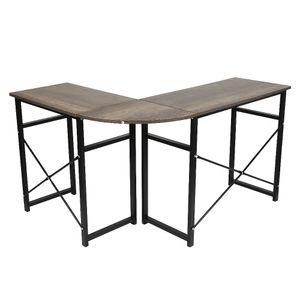 WYCTIN Computertisch Schreibtisch Arbeitstisch PC-Tisch 123-103*40*72.5cm