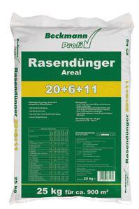 Beckmann Profi Rasendünger AREAL 20+6+11 -  25 kg für 700-1.000 m² - Volldünger