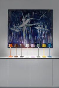 sompex Troll 2.0 LED Gartentischleuchte | Akkubetrieben | Aluminium | Dimmbar | Spritzwasserschutz | Inkl. Ladestation, Farbe:schwarz