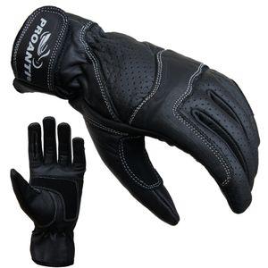 Damen Motorradhandschuhe Leder von PROANTI® - Größe M