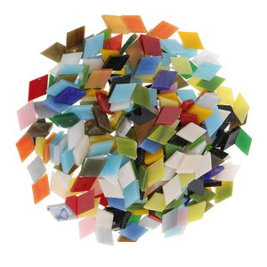Ca. 300 Stück Mosaikfliesen (200g) Farbe Rhombus