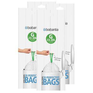 Brabantia Müllbeutel Smartfix (G) 23-30 Liter, 20 Mülltüten (4er Pack)