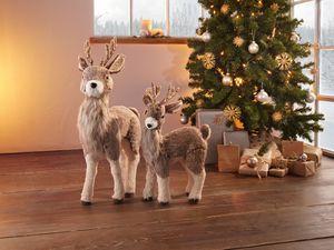 Rentier Weihnachten Xmas,schöne Weihnachtsdeko,harmonische Naturtöne,hochwertig