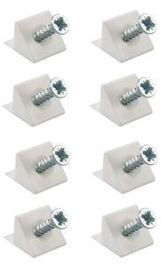8x Rückwandverbinder weiß halter Schubkastenboden Regal Stabilisator Rückwandhalter Schubladenböden möbel Stabilisatoren schrankrückwand
