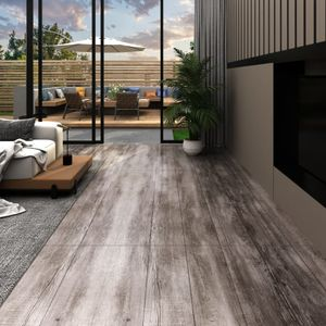 PVC Laminat Dielen 5,26 m² 2 mm Mattbraun Holzoptik
