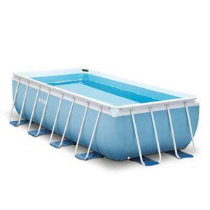 Intex Prisma Frame Pool   488 x 244 x 107 cm   Pumpe Leiter Planen   26792