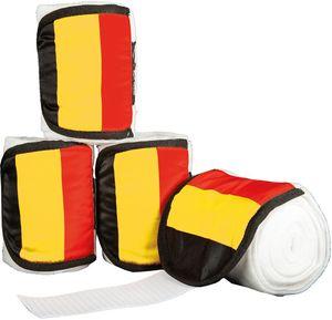 HKM Polarfleecebandagen -Flags- 4er Set, Farbe:7902 Flag Swiss, Größe:300 cm