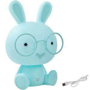 Kinderlampe Nachtlicht für Kinder mit Lichtintensitätsregelung Einschlafhilfe Hase /Teddybär verschiedene Farben 7881, Muster:Kaninchen