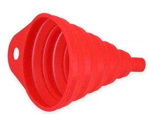 mumbi faltbarer Silikontrichter Trichter klein  Einfüllhilfe (ca. 8,6x10,5 cm) rot