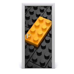 Tulup Türaufkleber 95x205 cm Dekorative Aufkleber Selbstklebend Wasserdichte Tapete Abnehmbar Schlafzimmer Wohnzimmer Wohnkultur - Lego Wand