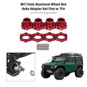 M17 17mm Aluminium Rad Hex Naben Adapter Mutter mit Pin fuer 1/8 RC Auto Buggy Truggy Monster Truck Crawler HPI HSP Traxxas Losi Axial Kyosho Tamiya Redcat Himoto DF ZD Racing