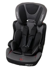 Osann Kindersitz Lupo Isofix Nero  - 9 bis 36 kg (8 Monaten bis 12 Jahren) - Befestigungsart: Isofix und 3-Punkt-Gurt - grau , schwarz