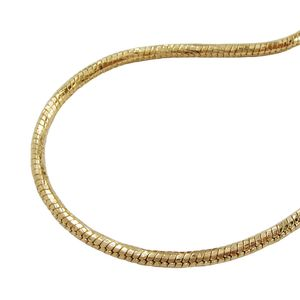 vergoldete Schlangenkette für Kettenanhänger Kette Schlangenkette vergoldet