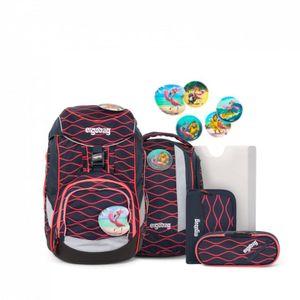 Ergobag 6-tlg. Schulrucksackset Lumi Edition Pack Synthetik 35 x 25 x 22 cm (H/B/T) Kinder Schulranzen 20 Liter