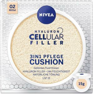 Nivea Hyaluron Cellular 3in1 Pflege Cushion 15ml - Make-Up LSF15 (02 Mittel)