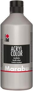 Marabu Acrylfarbe Acryl Color 500 ml silber 082