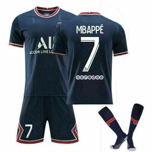 2021/22 Paris Saint-Germain Heim Trikot Mbappé #7 Sportbekleidung-Sets, Größe: S