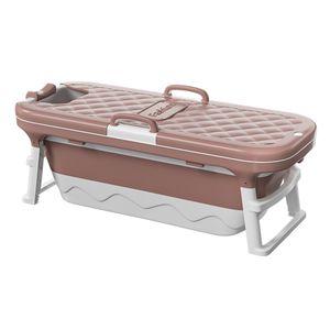 Faltbare Badewanne Baden Bad Barrel Spa Badewanne für Erwachsenes Kinder, 138x62x52 cm - Rosa