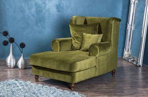 Max Winzer Mareille Big-Sessel inkl. 2x Zierkissen 55x55cm + 40x40cm oliv