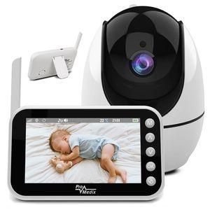 """Babyphone mit Kamera Baby Monitor 1280x720P 4,5"""" Display 355°/75° Schwenkbar Nachtsicht Zwei-Wege-Kommunikation Temperaturüberwachung Videoüberwachungsgerät bis 300m"""