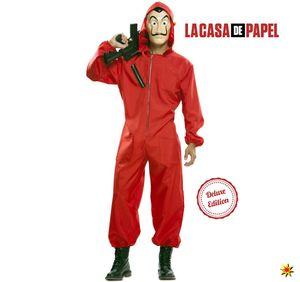 Witbaard kostüm Casa de Papel Luxus-Polyester rot mt M/L