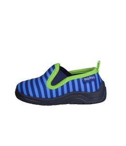 Playshoes Hausschuh Ringel blau/grün Jungen 201816-791, Größe:28/29, Farbe Playshoes:blau/grün