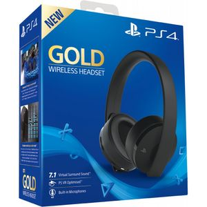 Sony PS4 Headset Gold Edition 7.1, VR optimiert, Farbe: Schwarz