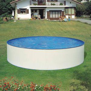 Summer Fun Stahlwandbecken Malediven Basic rund ø 4,50m x 1,20m Folie 0,4mm Einzelbecken Pool Rundpool / 450 x 120 cm Stahlwandpool Rundbecken